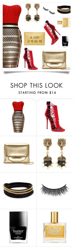 """""""Giuseppe"""" by tina-pieterse ❤ liked on Polyvore featuring Giuseppe Zanotti, Louise et Cie, Gucci, Vita Fede, Battington, Butter London, Victoria's Secret and T-shirt & Jeans"""