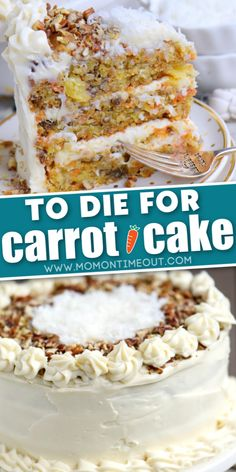This is the best carrot cake I've ever had. I made it for several of my neighbors and they sent me texts that they also thought it was the best carrot cake. Easy Cake Recipes, Baking Recipes, Sweet Recipes, Dessert Recipes, Carrot Cake Recipes, Moist Carrot Cake Recipe With Pineapple, Easy Carrot Cake Recipe From Scratch, Desserts With Pineapple, Cake