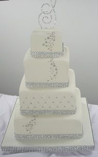 sparkle wedding cake