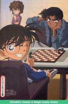 Detective Conan Hattori Heiji VS Conan chess game and Ai is just chill'in Sherlock Holmes, Anime Manga, Anime Art, Ghibli, Heiji Hattori, Manga Detective Conan, Detektif Conan, Detective Conan Wallpapers, Kaito Kid