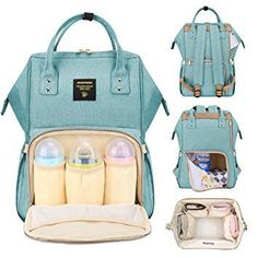 This lightweight baby bag holds more than the average diaper bag. One big wide open main compartment and 13 separate storage pockets, diaper bags diaper bags diaper bag diaper bags bag Sunveno Diaper Bag, Best Diaper Backpack, Large Diaper Bags, Large Bags, Backpack Bags, Travel Backpack, Cute Diaper Bags, Baby Backpack, Travel Luggage