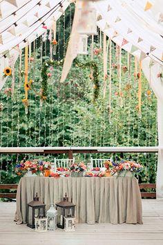 летняя свадьба в стиле рустик