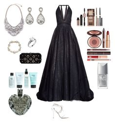"""""""Sparkling Night"""" by teresalcaine on Polyvore featuring Sophie Theallet, Aquazzura, Niclaire, Marchesa, Kenneth Jay Lane, Physicians Formula, Charlotte Tilbury, philosophy, Vera Wang and Christian Dior"""