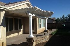 Columns Elevated On Wall Patio Covers In Temecula CA   GreenBee Service    (951)