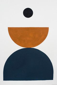 Bobby Clark — Shape Study 11 navy and rust colour design graphic collage Illustration Arte, Illustrations, Modern Art, Contemporary Art, Art Abstrait, Geometric Art, Geometric Patterns, Art Inspo, Design Art