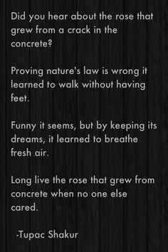 The Rose that Grew From Concrete by Tupac Shakur --