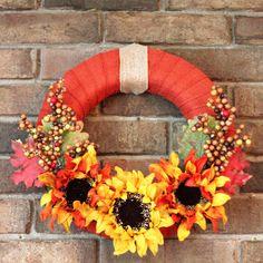 Easy Fall-Wreath
