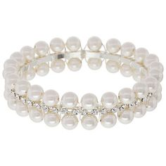 Dreams Do Come True Bracelet | Fusion Beads Inspiration Gallery-It's made with rhinestone cup chain,  combined with wire-wrapped pearls atop a plain bangle.