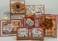 My Pump-it-Up designs featuring the Wickedly Sweet Treats Paper Pumpkin kit. Enjoy! Stampwithjeanne.com Sept 2015.