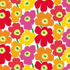 Pieni Unikko 396x27.6 Pink Red, $165, now featured on Fab.