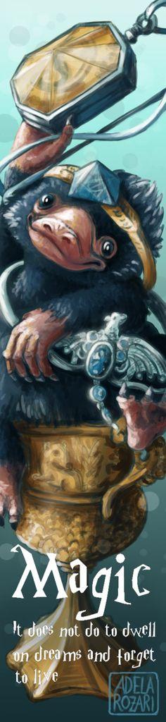 Niffler - Harry Potter bookmark by Dragowlin.deviantart.com on @DeviantArt