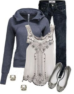 interesting combo... Lululemon jacket & bling