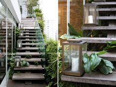 escada externa de concreto