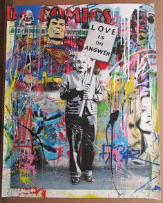 From the streets to the gallery on pinterest mr for Mural painted by street artist mr brainwash