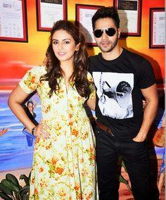 Huma Qureshi, Varun Dhawan in Badlapur Movie Promote Stills at Red FM Mumbai Studio | Bollywood Tamil Telugu Celebrities Photos