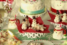 Snowman Candy Tray - 1/12 scale dollhouse miniature by Hummingbird Miniatures, via Flickr
