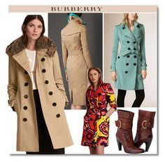 """Burberry Trench coats"" by faten-m-h ❤ liked on Polyvore featuring Burberry"