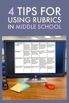 Use these tips when creating and evaluating project-based learning for your middle school students! First Year Teachers, Parents As Teachers, New Teachers, Rubrics For Projects, Reading Projects, Middle School Hacks, School Tips, Parent Teacher Conferences, Blended Learning