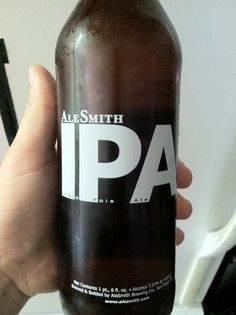 Ale Smith IPA.