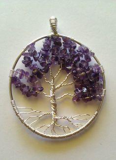 Amethyst Tree Of Life Pendant 001 Help Meg by SonoraKayCreations, $30.00