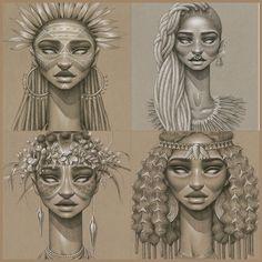 Beautiful work by Black Girl Art, Black Women Art, Afro, African Queen Tattoo, Roots Tattoo, Africa Tattoos, African Goddess, African Art Paintings, Sweet Tattoos