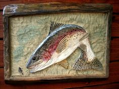 Chain Saw Carved Trout & Fly