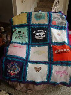 Random t-shirt blanket for kids