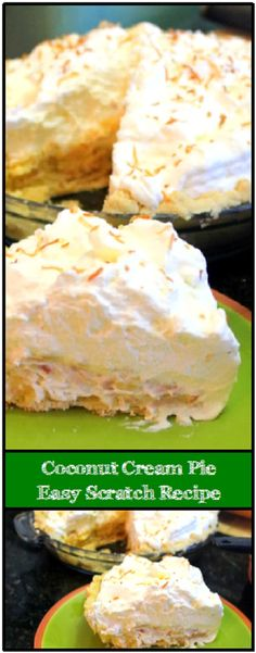 Inspired By eRecipeCards: Coconut Cream Pie Scratch DIY - 52 Cakes and Pies at Home