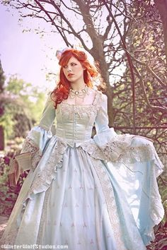 Alice in Wonderland Marie Antoinette Fantasy Gown New Style Custom. $1,150.00, via Etsy.