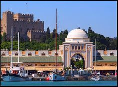 Ρόδος (Rhodos,Rhodes,Rodos) Greece Rhodes, Greece Travel, Rhode Island, Taj Mahal, Greek, Building, Beautiful, Blog, Paradise