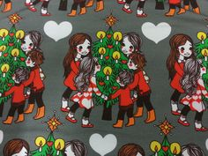 Pikku Piltin joulu by Leena Renko Print Fabrics, Printing On Fabric, Kids Outfits, Cool Stuff, Pictures, Inspiration, Design, Templates, Xmas