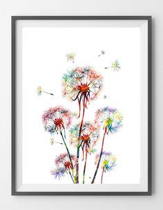 Dandelion 3 watercolor print