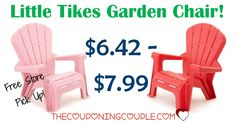 So cute! The little ones will love the Little Tikes Garden Chair! Perfect for inside or out! As low as $6.42!  Click the link below to get all of the details ► http://www.thecouponingcouple.com/little-tikes-garden-chair/ #Coupons #Couponing #CouponCommunity  Visit us at http://www.thecouponingcouple.com for more great posts!