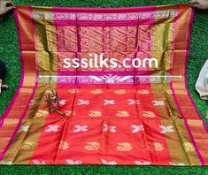 Indian Handloom Sarees and Silks Kanchipuram Saree, Handloom Saree, Festival Wedding, Pure Silk Sarees, Floral Stripe, Scriptures, Festivals, Temple, Stripes