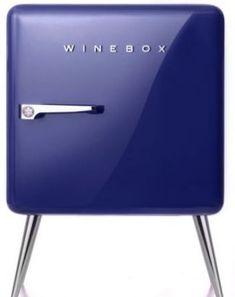Retro style wine fridge.