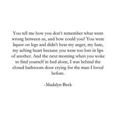 #poem #poet #prose #quote #qotd #quoteoftheday #photooftheday #picoftheday #words #wordporn #wordstoremember #wordswithqueens #instagood #love #relationships #heartbreak #spilledink #poetryisnotdead #poetrycommunity #poetryloving #creativewriting #milwaukee #wisconsin #madalynbeck