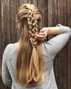 28 Ponytail Braided Hair How do u do a braid? Braided Hair Styles For Kids Braided Ponytail, Braid Hair, Zipper Braid, Hair Videos, Braided Hairstyles, Braids, Dreadlocks, Hair Styles, Makeup Ideas