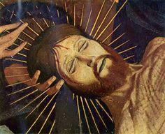 Enguerrand Quarton - La Pietà de Villeneuve-lès-Avignon, c. 1455    Detail of Jesus' head