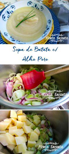 Como preparar a deliciosa La Vichyssoise, sopa de batata e alho poró francesa.