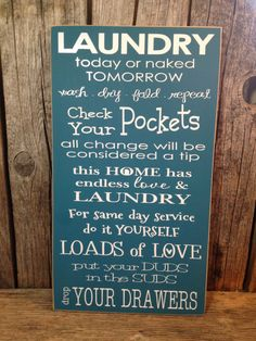 Laundry Sign Trio Lost Socks Keep The Change Sorting