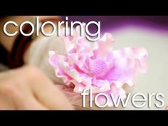 <3 How to Apply Dust Color to Gum Paste Flowers | Cake Tutorials
