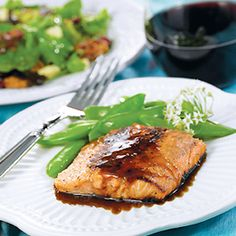 Dinner: Fish - Honey Glazed Steelhead Trout  (or salmon) - just made it this evening, very good.  Just watch the temp under the fish as the honey in the glaze can burn.  It comes out tasting like a sweet and sour glaze.