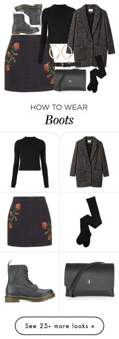 """""""Untitled #6272"""" by rachellouisewilliamson on Polyvore featuring Topshop, Étoile Isabel Marant, Dr. Martens and Tory Burch"""