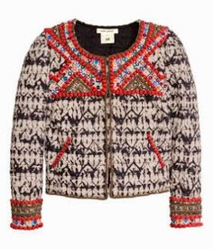 Isabel Marant H&m Hand-embroidered Leather Jacket 484882 Isabel Marant, Cute Jackets, H&m Jackets, Outerwear Jackets, Jeggings, Embroidered Leather Jacket, Beaded Jacket, Braids With Weave, Weave Braid