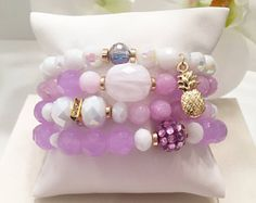 Mermaid Stack Bracelets Beaded Bracelets Layering Bracelets