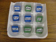 Sight Word Tic Tac Toe (Free idea)