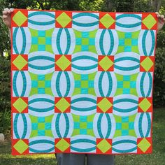 Urban nine patch from Color Me Quilty