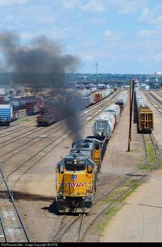 Union Pacific Train, Union Pacific Railroad, Moving Cross Country, Railroad Photography, Train Pictures, Rolling Stock, Train Journey, Diesel Locomotive, Favorite Pastime