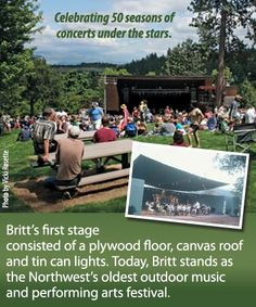 Britt Festival in Jacksonville is always another big hit locally and far. With lots of great head liner concerts and much more.  #totsywest