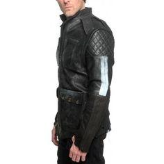 "Men's JUNKER DESIGNS - ""BLADE RUNNER"" Leather Jacket www.motard-chic.com"